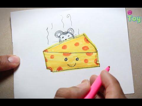 Dibujo de simptico ratn comiendo queso  YouTube
