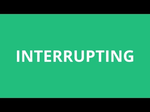 How To Pronounce Interrupting - Pronunciation Academy