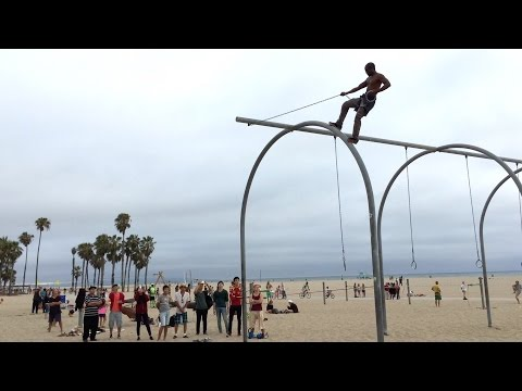 Fun People at Original Muscle Beach (OMB) ~ Santa Monica