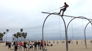 fun people at original muscle beach omb santa monica part 1