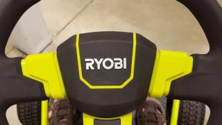 2018 Ryobi RM480e Fully Electric Riding Mower Walkaround