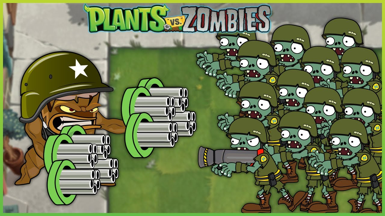 Plants vs Zombies - Episode 4 - 1 Threepeater vs 9999 Zombies Heroes vs Dr. Zomboss
