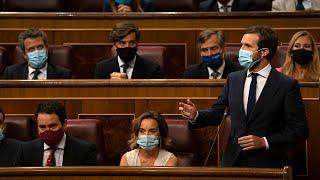 Pablo Casado interviene en la sesión de control al Gobierno en el Congreso