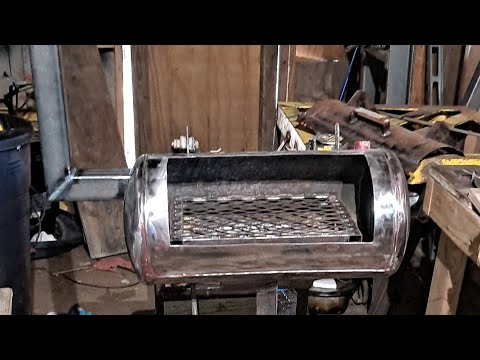 How To Build BBQ Pit Grill Out Of An Air Tank, My First Time Building A Pit Part 1