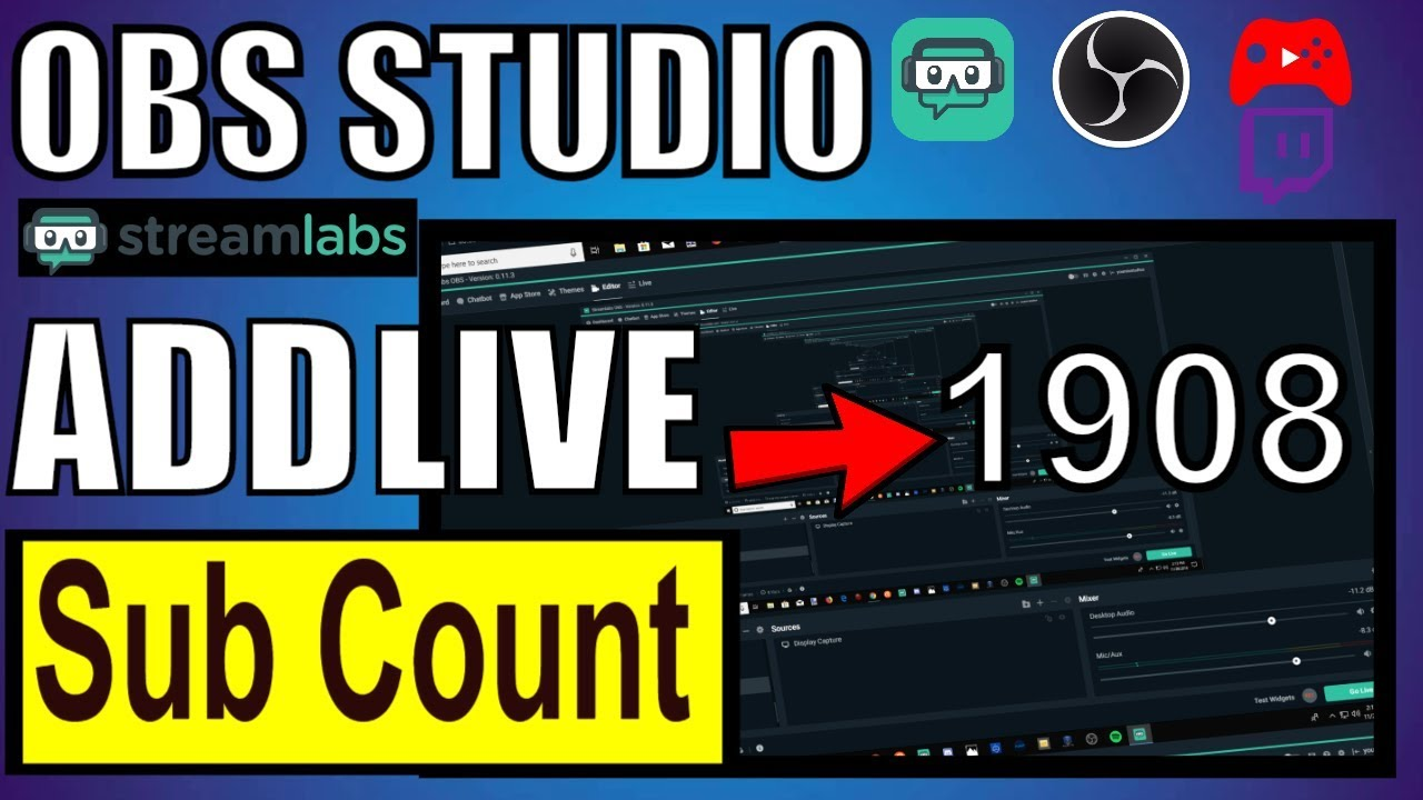 How To Add Live Subscriber Count To Streamlabs OBS (Fast!)