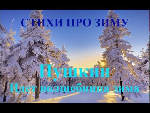 Стихотворения про зиму и Новый год. Пушкин Идет волшебница зима