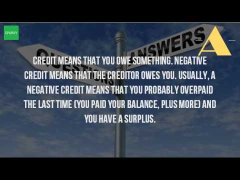 What Does It Mean When You Have Negative Balance On Your Credit Card