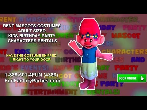 RENT MASCOTS COSTUMES ADULT SIZED KIDS BIRTHDAY PARTY CHARACTERS RENTALS