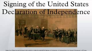 Signing of the United States Declaration of Independence