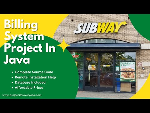 Subway - Customised Fast Food Billing System in Core Java with MySql image
