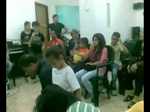 خدمة غسل الارجل في كنيسة عكا المعمدانيه