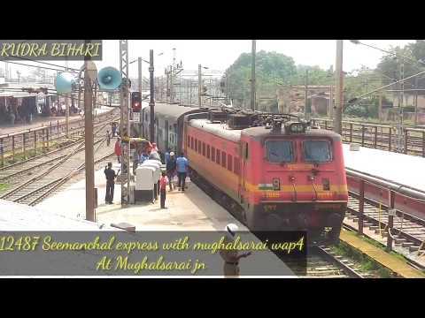 12487 seemanchal express jogbani-anandvihar terminal arriving at MUGHALSARAI jn