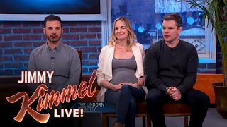 Who s The Baby Daddy: Jimmy Kimmel or Matt Damon?