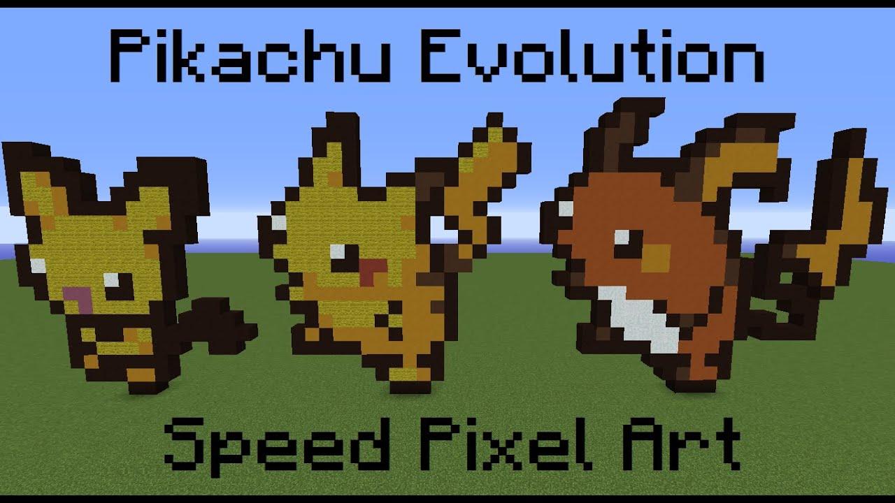 Pikachu Evolution Speed Pixel Art