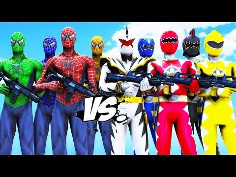 TEAM SPIDER-MAN VS POWER RANGERS (DINO THUNDER)