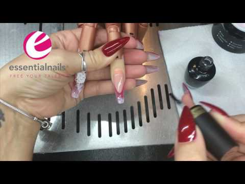 Pink Glitter Nails with 3D Rose Tutorial, by Kerry Benson