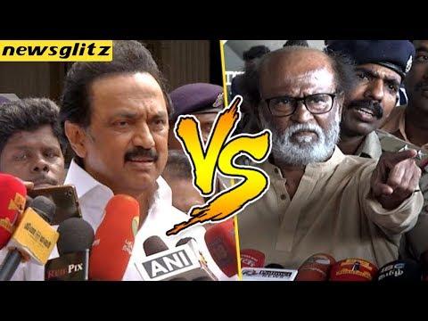 தீவிரவாதி யாருன்னு சொல்லு : Stalin Vs Rajinikanth over Sterlite Issue   ADMK   DMK   BJP