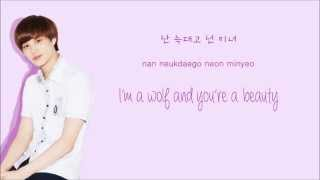 EXO - Wolf (늑대와 미녀) (Korean Version) (Color Coded Hangul/Rom/Eng Lyrics)