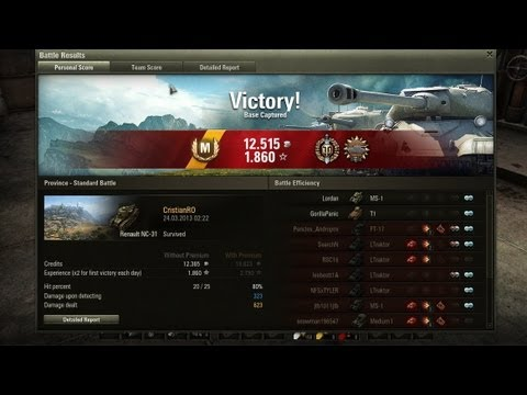 World of Tanks 8.4: Province, NC-31  tier 1 Chinese light tank, Ace Tanker with Top Gun and Scout