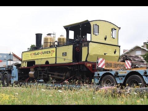 Une nouvelle locomotive et un wagon sur les Voies ferrées du Velay