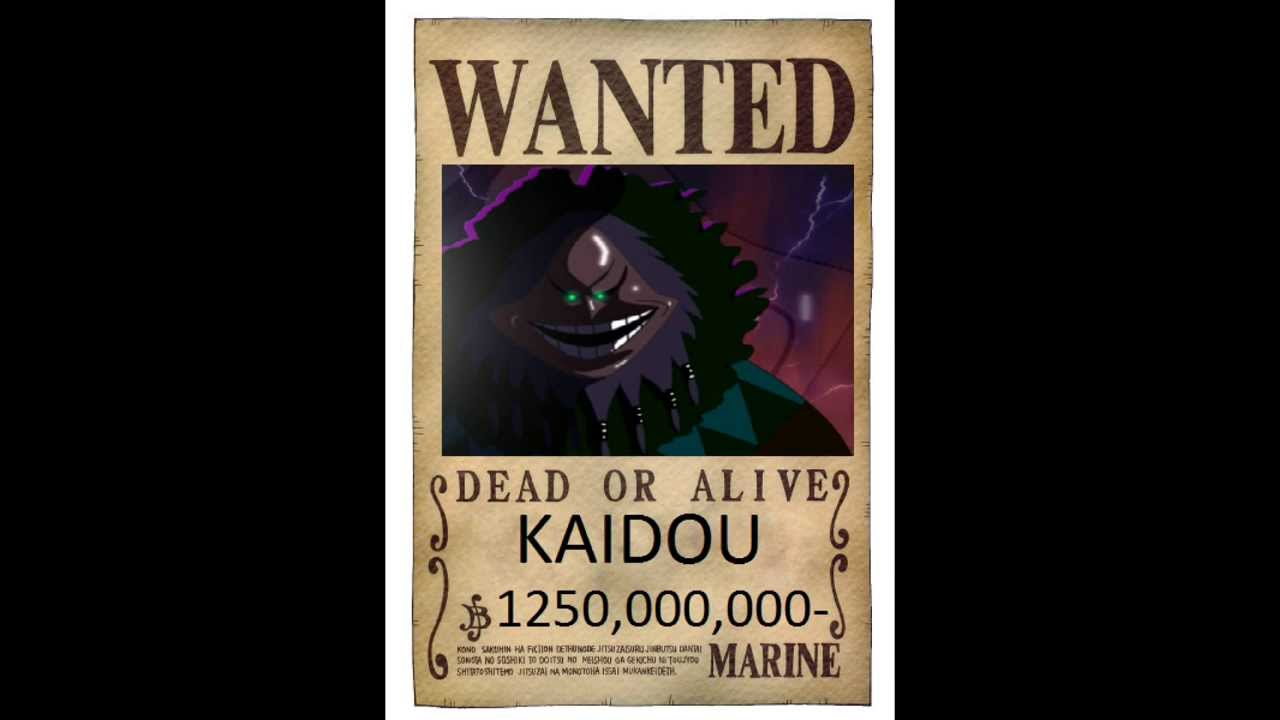 One Piece wanted posters 2016 (future) - YouTube