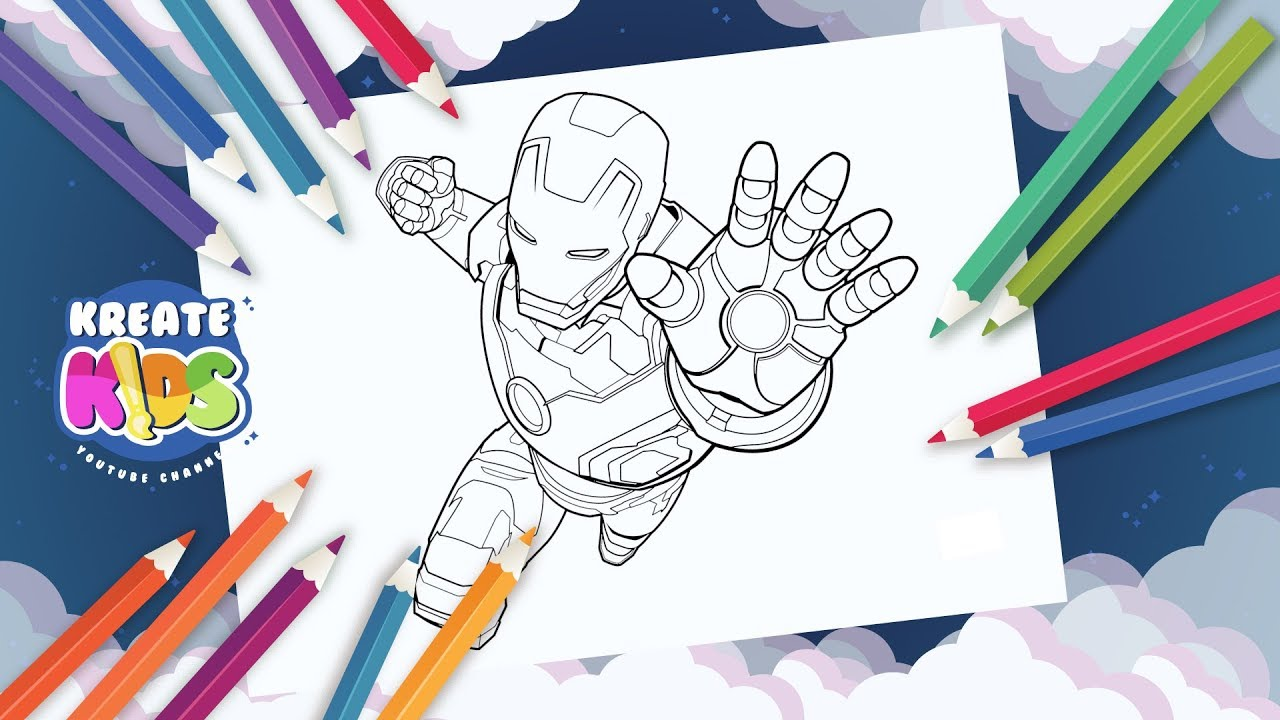 Marvel Avengers Iron Man Disegni Da Colorare Coloring Painting