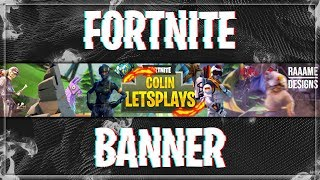 Fortnite Banner with Gimp | Free Template | Speedart