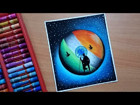 Republic Day Drawing With Oil Pastel Step By Step    Independence Day Drawing