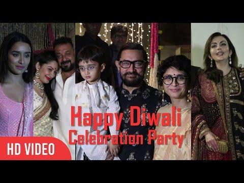 UNCUT - Aamir Khan's Grand Diwali Party Celebration | Nita Ambani, Sanjay Dutt, Shraddha Kapoor