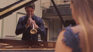 C.Debussy - The Girl with the Flaxen Hair - Floris Onstwedder trumpet & Ieva Dudaite piano