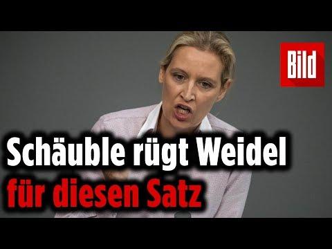 """Wolfgang Schäuble rügt Alice Weidel für Satz über """"Kopftuchmädchen"""" –  Eklat im Bundestag"""