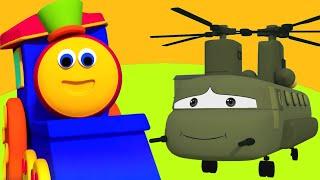 Боб Поезд | Посетите военный лагерь | военные транспортные средства | Bob Train | Visit To Army Camp