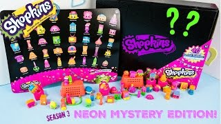 Shopkins Mystery Edition Season 3 Neon Target Exclusive Black Box
