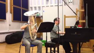Ian Foster tuba recording session excerpt 1