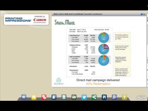 Direct Mail & Social Media Webinar -- Sponsored by Canon Solutions America
