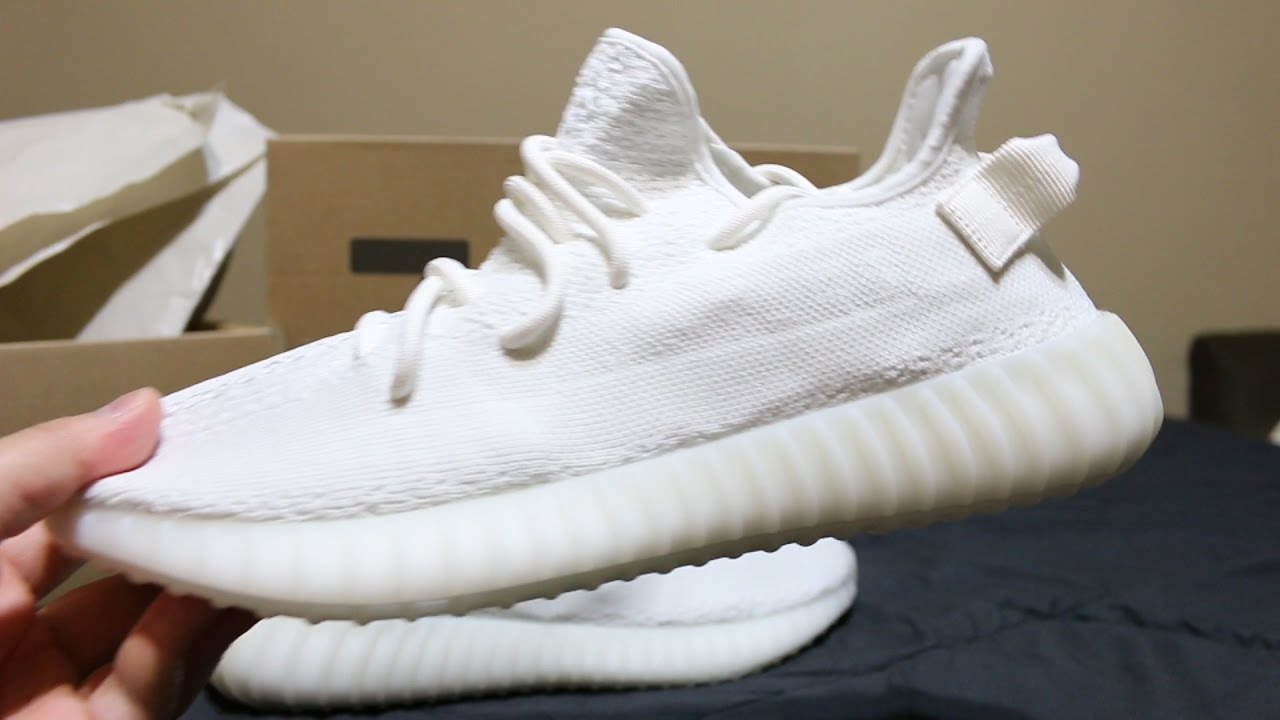 9f34baf37 ASMR Hype  Adidas Yeezy 350 V2 Boost White Cream Unboxing + Review ...