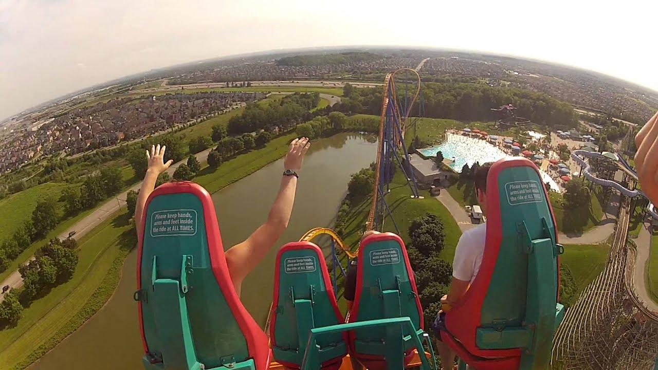 Behemoth Roller Coaster Canada's Wonderland - YouTube