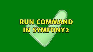 Run command in Symfony2