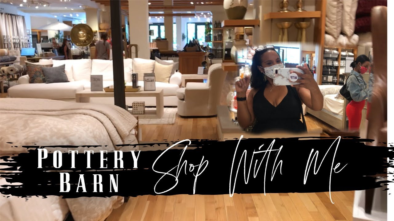 Pottery Barn Shop With Me | Lets Go See What's Poppin' | Pottery Barn Walk Through