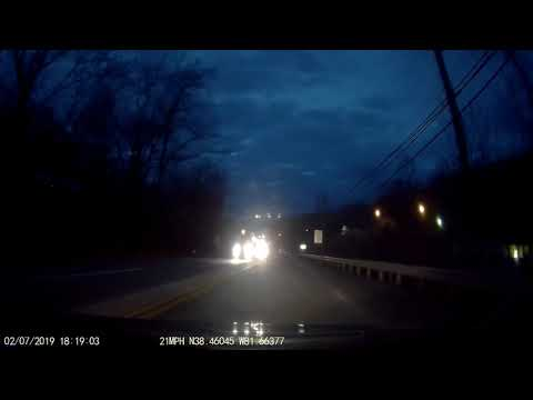 Car With No Headlights On After Dark