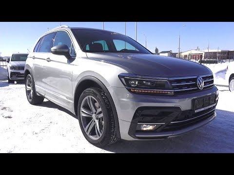 2018 Volkswagen Tiguan 2.0 TSI (180hp) DSG 4Motion Sportline. Start Up, Engine, and In Depth Tour.