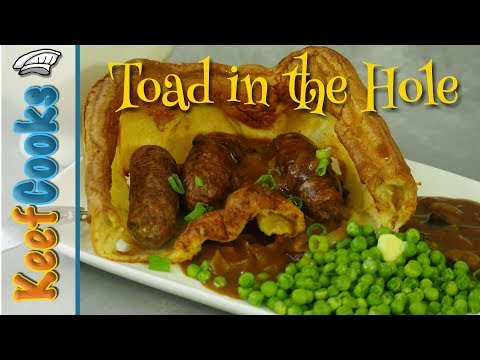 Toad In The Hole With Onion Gravy | Yorkshire Pudding And Sausages