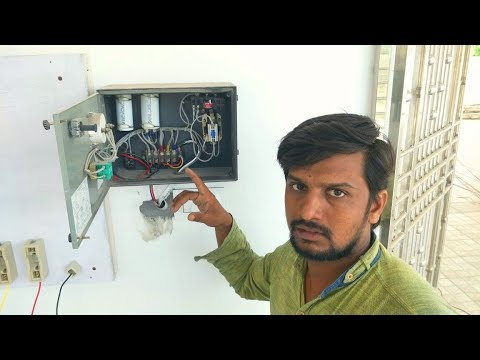 How To Instal Single Phase Submersible Pump Starter Wiring In Hindi Urdu Mvt Skills Youtube