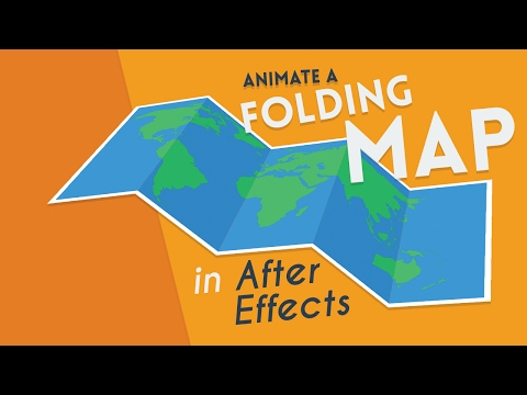 How To Animate a Folding Map | After Effects Tutorial