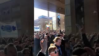 Malmö FF-supportrar i Borås 2/4 2018
