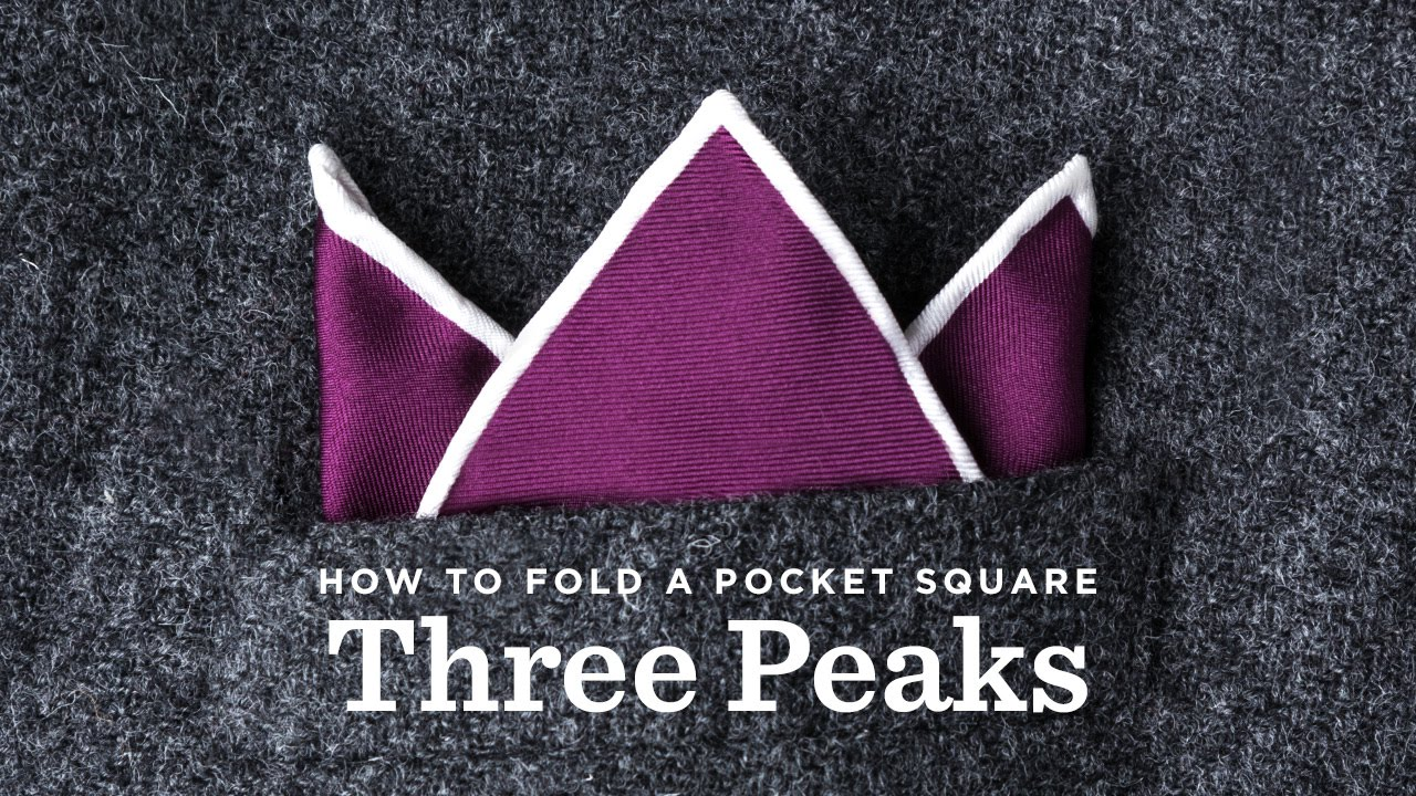 a055d4707b08f How To Fold the Three Peaks Pocket Square | Ties.com