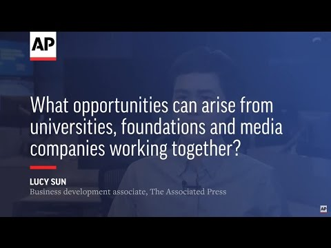 What opportunities can arise from universities, foundations and media companies working together?