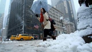 تعليق الرحلات الجوية في شمال شرق الولايات المتحدة بسبب عاصفة ثلجية