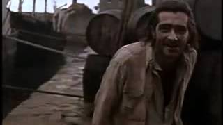 Moby Dick (1956) - Ishmael and Queequeg encounter Elijah.flv