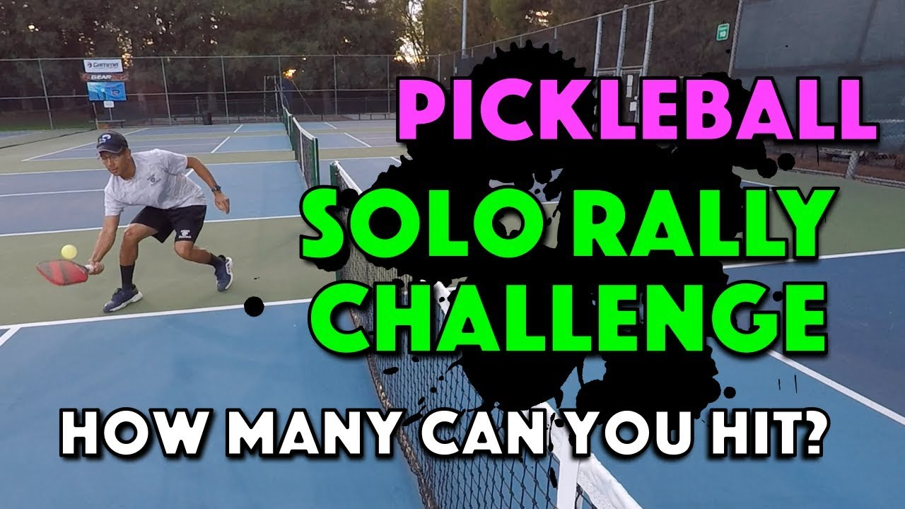 Pickleball Solo Rally Challenge - How many can you hit?